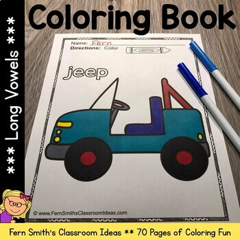 Coloring Pages for Long Vowels