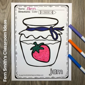 Long Vowels and Short Vowels Coloring Pages - 120 Page ...