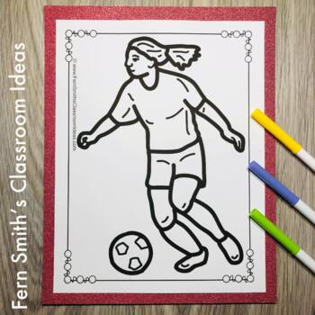 PE Sports Coloring Pages - 29 Pages of Sports Coloring Book Fun
