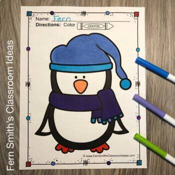 Penguins Coloring Pages
