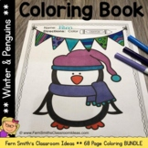 Penguins Coloring Pages and Winter Coloring Pages Bundle