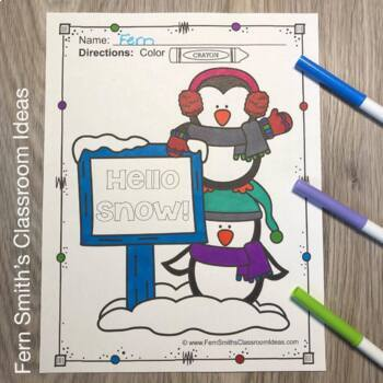 Winter Coloring Pages and Spring Coloring Pages BIG Bundle