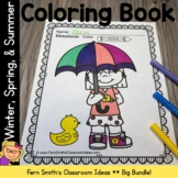 Spring Coloring Pages with Summer and Winter Bundle Printa
