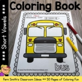 Coloring Pages for Short Vowels - 50 Pages of Short Vowel Coloring Book Fun