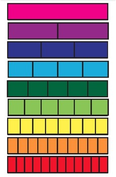 Color Fraction Strips Template (unlabeled)