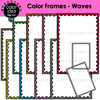 Color Frames - Waves
