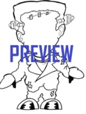 Color Frankenstein Halloween Falloween Coloring Page Missi