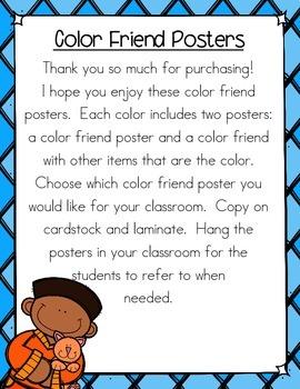 Color Friend Posters