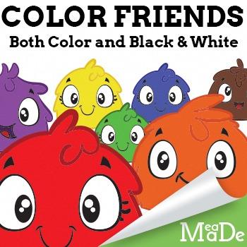 Color Friends Clipart Pack
