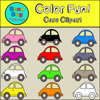 Color Fun! Cars Clipart - Commercial Use