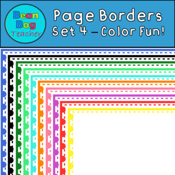Color Fun Page Borders/Frames Set #4 - Commercial Use