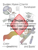 Color Gradients Project for Middle School Math: Integer Op