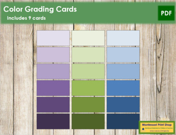 Color Grading Cards