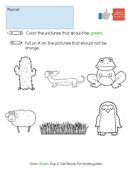 Color Green Activity Pack