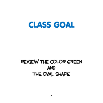 SPRING:Color Green & Oval Shape Weekly Thematic Unit for Toddlers & Preschoolers