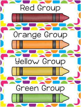 Color Group Labels - Seeing Spots Theme {Polka Dot Freebie!}