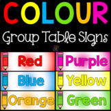 Color Group Table Signs