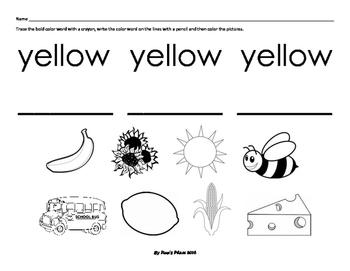 Color Handwriting Sheets