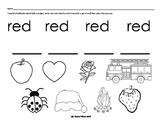 Color Handwriting Sheets