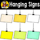 Color Hanging Signs {Clip Art for CU}