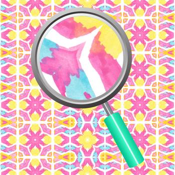 Color Harmonies Kalidoscope Watercolor Handpainted Digital Paper Clip Art