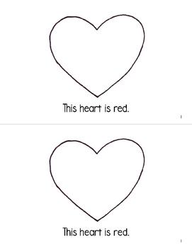 Color Hearts Emergent Reader