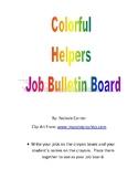 Color Helpers Bulletin Board - Classroom Jobs