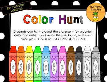 Color Hunt Chart