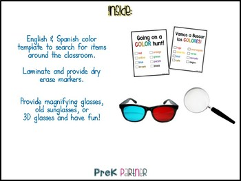Color Hunt Checklist: Bilingual