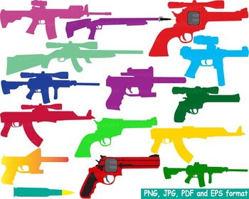 Color Hunting Gun Silhouette Clip Art toy community heroes army police -163