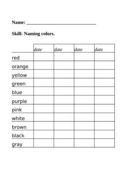 Color Identification Assessment