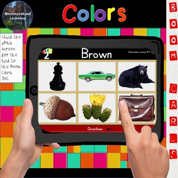 Color Identification Colors Digital Boom Cards Pick 2 Game