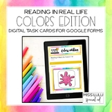 Color Identification Digital Task Cards for Distance Learn