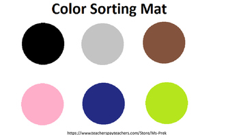 Preschool Color Identification Mats