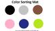 Preschool Color Identification Mats
