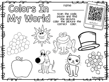 Color Identification and Listening Skill Practice with QR Code Voice Recordings