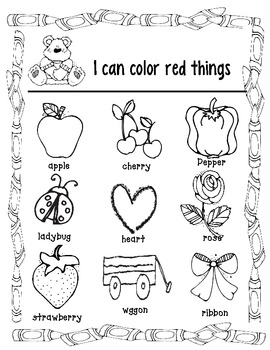 Color Identification Coloring pages