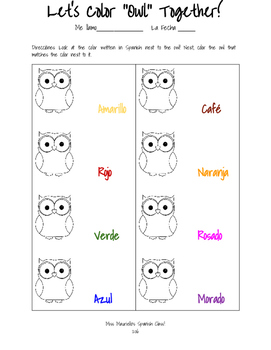 Color In Owls!