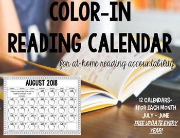Color In Reading Calendar - #ChristmasinJuly