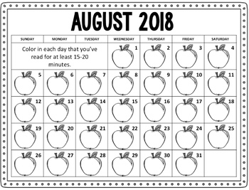 Color In Reading Calendar #celebratedeals
