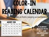 Color In Reading Calendar #fallfordollardeals