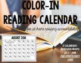 Color In Reading Calendar