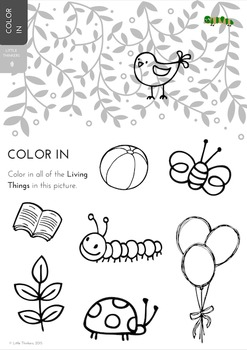 Color In - Sorting activity