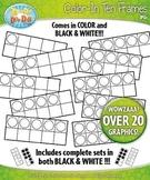 Color-In Ten Frames Math Clipart {Zip-A-Dee-Doo-Dah Designs}