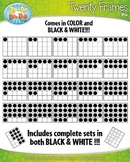Color-In Twenty Frames Math Clipart {Zip-A-Dee-Doo-Dah Designs}