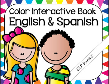 Color Interactive Book - English and Spanish