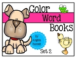 Color Word Books - Set 2