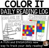 Back to School: Color It- A NEW Take on the Daily Reading Log for Grades 2-5