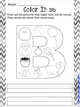 Alphabet Journey: Color It Letters