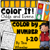Color It! Color By Number Odd and Even Numbers ~ Math Centers